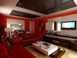 Design Living Room Paint Colors Ideas Modern Red White With Sectional Sofa And