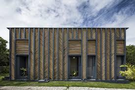 100 Concrete House Design Brazil A Bambooclad House Made Of Blue Concrete By Vilela Florez