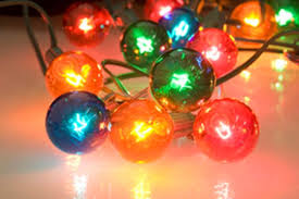 Colored Bulbs For Ceramic Christmas Tree by Set Of 10 Multi Colored G40 Globe Patio Party Christmas Lights