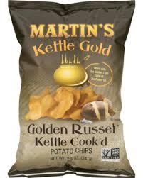 Martins Kettle Gold Cookd Golden Russet Potato Chips 85 Oz Bag
