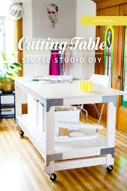 Diy Sewing Cabinet Plans by The 25 Best Sewing Cutting Tables Ideas On Pinterest Cutting