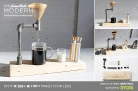HomeMade Modern DIY Pipe Coffee Maker Postcard