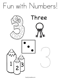 Fun With Numbers Coloring Page