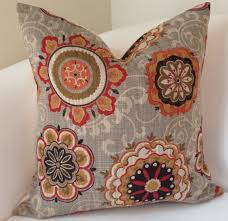 Decorative Couch Pillow Covers by Decorative Throw Pillow Cover Suzani Pillow Brown Orange