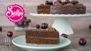schokoladen nougat torte mit kirschen sonntagstorte sallys welt