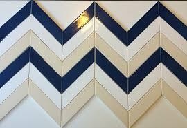2x8 Ceramic Subway Tile by Vellum Cream Chevron Ceramic Tile Modwalls Clayhaus Tile