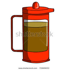 Cartoon Kettle With Coffee Pot