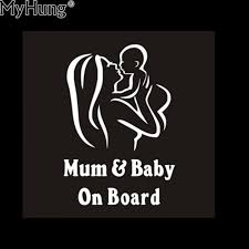 Car Sticker Motorcycle Sticker Waterproof Reflective Cool Baby On ...