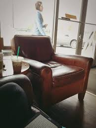 Leather Chair From Starbucks. Perfect In Every Way, And I Want ... Next Sherlock Leather Armchair Sitting Room Pinterest Pottery Barn Turner Leather Sofa Colonial Style Decor In A Beautiful Vintage Inspired Outback Tan The Tobin Now On Sale Turner Chair The Chair Beautifully Pottery Barn Sofa Glamorous Cool Best 60 For Sofas And Couches Brown Wingback Brass Side Table Excited For My Chesterfield Ottoman Home Sweet 100 Sleeper Five Without Huntsman In Old Bard Harris Tweed Loden Http Industrial Chairs Armchairs Fniture Pib Erik Wing Sinks Shapes
