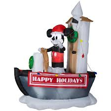 Disney 699ft Lighted Mickey Mouse Christmas Inflatable At Lowescom