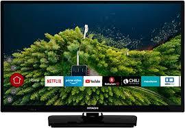 hitachi h24e2000 24 zoll fernseher hd ready smart tv