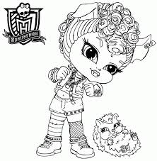 Printable Colouring Sheets Cartoon Monster High Baby Howleen Wolf