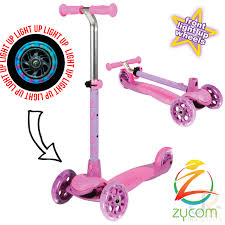 Scooter Light Up Wheels Pink Purple HomeStunt
