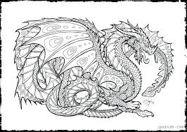 Dragon Coloring Pages To Print Scary Realistic