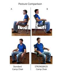 Camping Chair With Footrest Australia by Amazon Com Strongback Elite Folding Camping Chair With Lumbar
