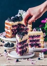 zitronen blaubeer torte vegan