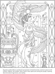 Freebie Printable Egyptian Isis Coloring Page