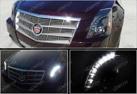 08 13 Cadillac CTS Black Aftermarket Projector LED Headlights
