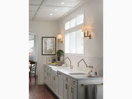 Kohler Karbon Faucet Gold by Karbon Articulating Kitchen Sink Faucet With Sprayhead K 6228