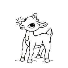 Rudolph Red Nosed The Reindeer Coloring Page