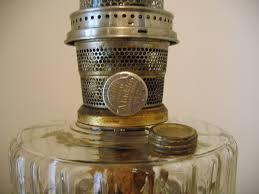 Antique Brass Aladdin Lamps by Antique Vintage 1930 U0027s Aladdin Kerosene Clear Glass Oil Lamp Item