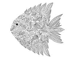 Complex Zentangle Fish To Color