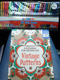 Discount Bookstore We Have Here In The UK Called Works To See What I Could And Found This Beautiful Colouring Book Vintage Patterns