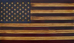Martins Flag Rustic Antique Wooden American Flags