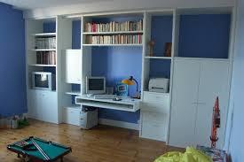 meuble bibliotheque bureau integre amenagement chambre bureau idées de décoration et de mobilier