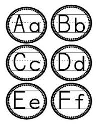 Display These Letters On Your Word Wall Love The Circular Design With Penmenship Print Font