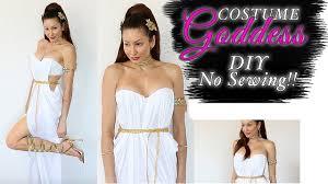 diy greek goddess costume easy no sewing youtube