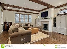 100 Cieling Beams Family Room With Wood Ceiling Stock Image Image Of