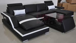 canapé noir et blanc canapé d angle panoramique design en cuir tosca xl éclairages