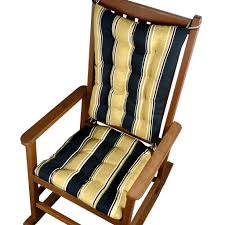 Rocking Chair Cushions - Awning Stripe Black / Tan - Indoor ... Shop Grey Cream Indoor Outdoor Corded Chair Cushion Set On Sale Free 20 Fresh Scheme For Rocking Sets Table Design Black Serendipitaliainfo Rocking Chair Cushion Set Apayislethalorg Fniture Add Comfort And Style To Your Favorite With Perfect Inspiration About Senja Antique Sunbrella Or Cushions Canvas Macaw 2 Pc Foam Etsy Amazoncom Klear Vu Inoutdoor Pad 205 X 19 Replacement Rocker Solid Fabric