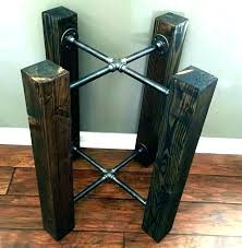 Diy Table Legs Metal Wood Kitchen Round Base Excellent Pallet