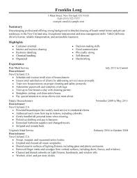 Sample Cleaning Resume