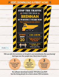Construction Party Invitation - Construction Birthday Invitation ... Cstruction Party Cake Dump Truck Dump Truck Birthday Party Boy Second Birthday Cstruction With Free Printable Printables Favorsdump Craycstruction 40 Stickers For Lollipops Favor Boxes Toy 12 Best Inspiration Images On Dumptruck Treat Stands Cones Orientaltradingcom 14 Invitations Many Fun Themes 1st Invitation Banner Decor