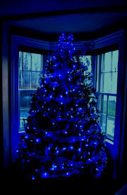 Colored Bulbs For Ceramic Christmas Tree by Best 25 Blue Christmas Lights Ideas On Pinterest Blue Christmas