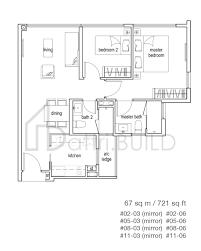 104 Tree House Floor Plan 2 Bedroom Type A1