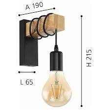 retro industrie wandleuchte vintage design wandleuchte holz deckenleuchte schwarz e27 steckdose für wohnzimmer kinderzimmer schlafzimmer küche flur