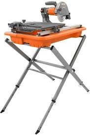 ridgid r4030s 7 inch 7 portable tile saw with stand power tool