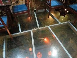 Oriental Suites Hotel Spa Restaurant Glass Floor With Koi