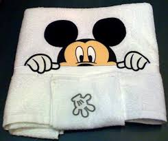 Mickey Mouse Bath Set Hooded Towels by Mickey Mouse Towel Towel