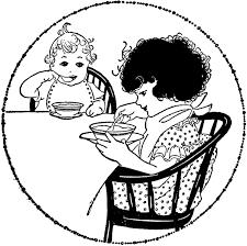 Vintage Breakfast Time Image