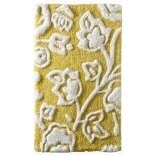 floral bath rug yellow threshold target
