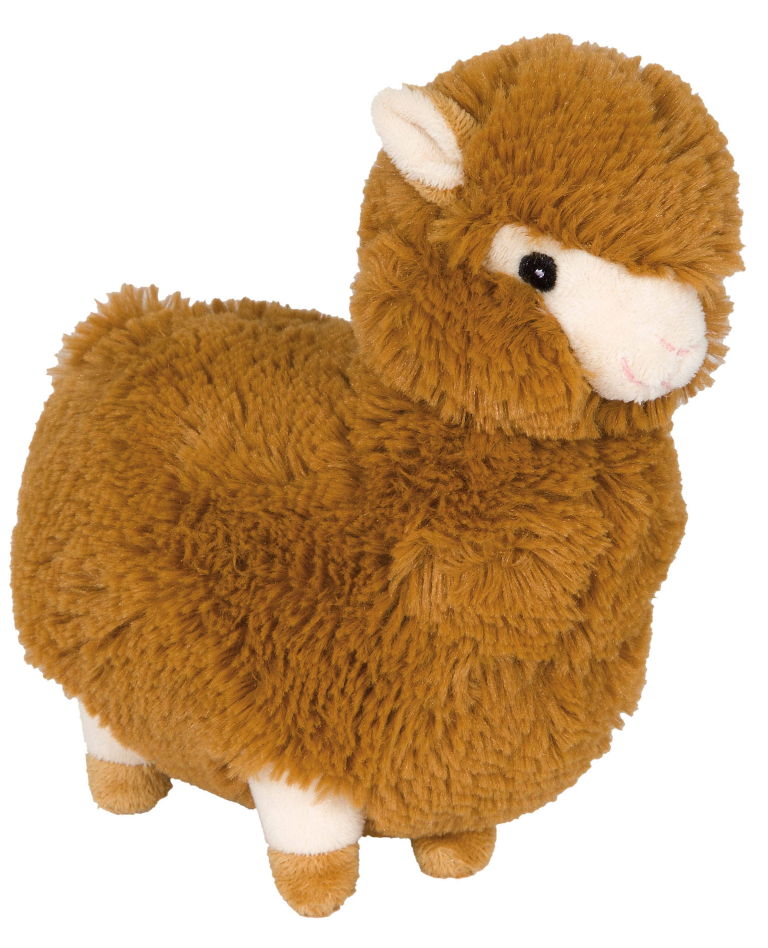 Wag & Purr Alpaca Toy - Brown, 11""