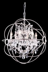 Chandelier Chrome Sphere Circle Fancy
