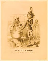 Print Shows Oscar Wilde As An African American Dandy Wooing Woman Leaning Over