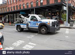 100 New Tow Trucks Nypd Traffic Enforcement Tow Truck York City USA Stock Photo
