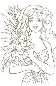 Barbie Coloring Pages Free Printable Princess Color Sheets Art Galleries In Book Pictures Games